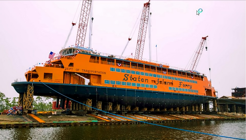 Staten Island Ferry Sandy Ground. Image Credit Eastern Shipbuilding