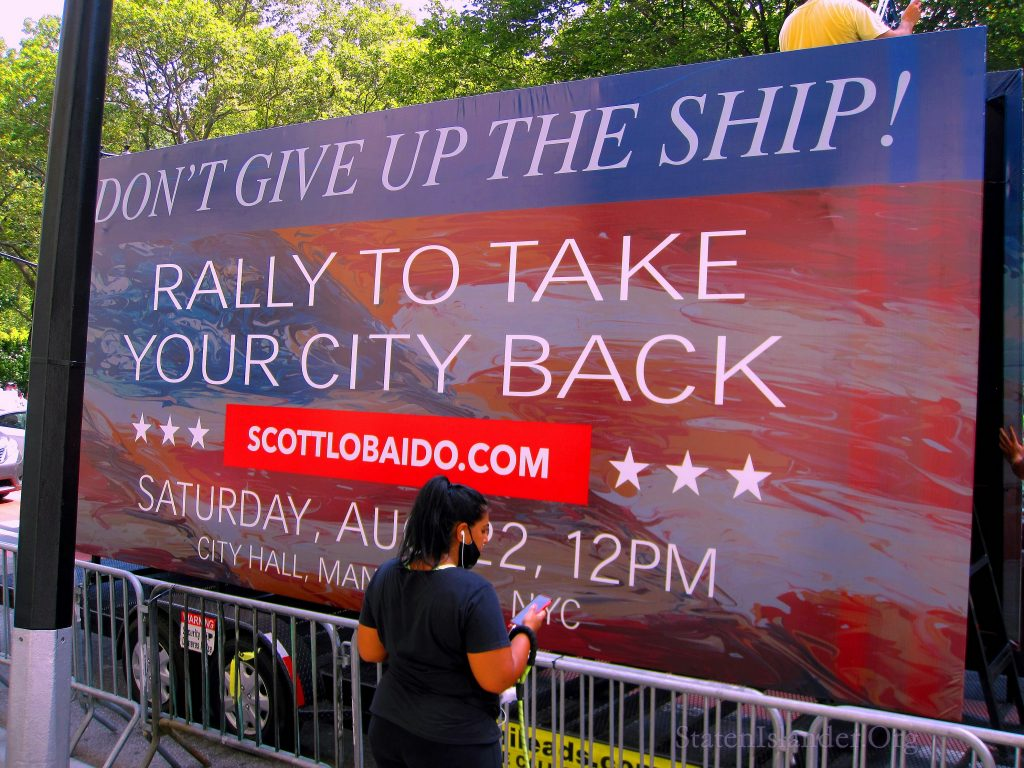 """Don't Give Up The Ship"" Rally At City Hall Park"