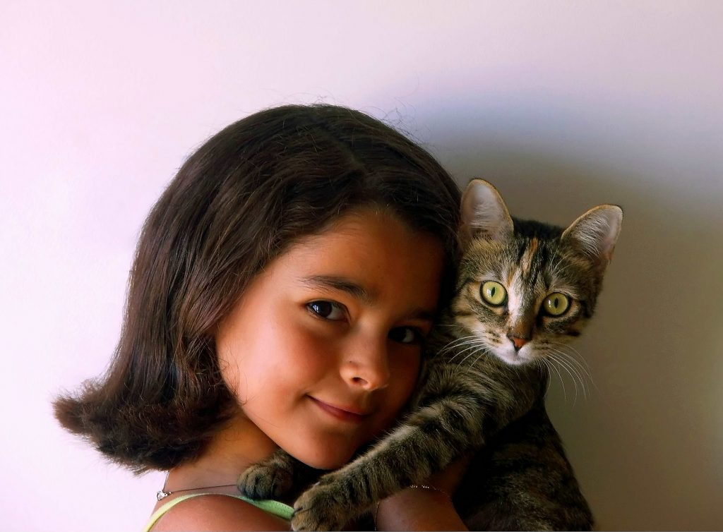 Little Girl and her Cat. Image Credit Alvesgaspar. License By CC