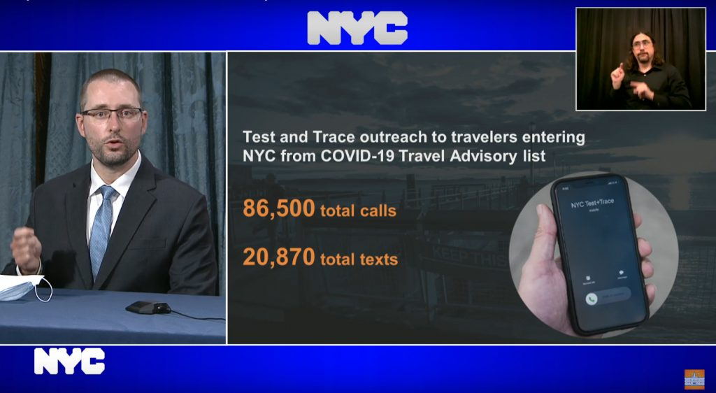Mayor de Blasio Implements Measures To Enforce NYS Law To Keep Travelers From States With High Numbers Quarantined