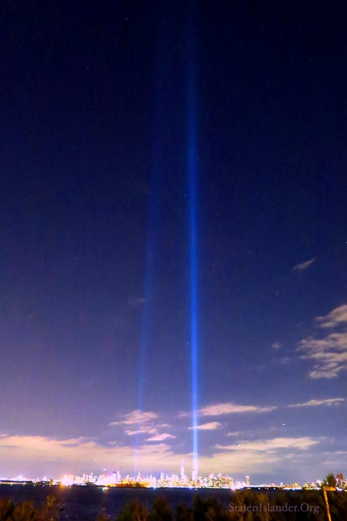 9-11 Tribute In Lights As Seen From Staten Island (1)