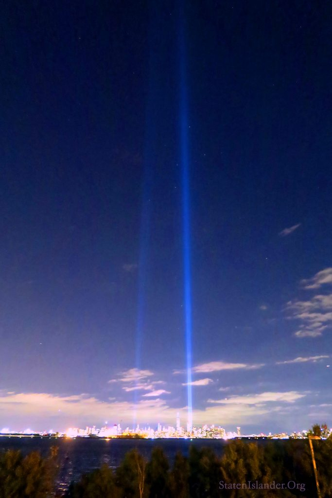 9-11 Tribute In Lights As Seen From Staten Island (2)