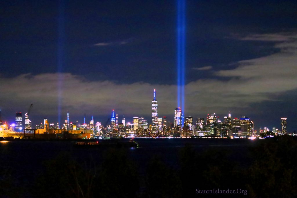 9-11 Tribute In Lights As Seen From Staten Island (3)