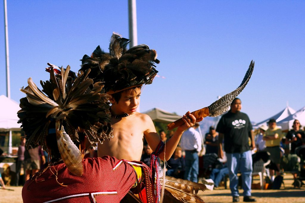 Narragansett - Yaqui Native Photograhed At the Tuscon new Year's Pau Wau. Image Credit Alane Golden, License by CC 3.0