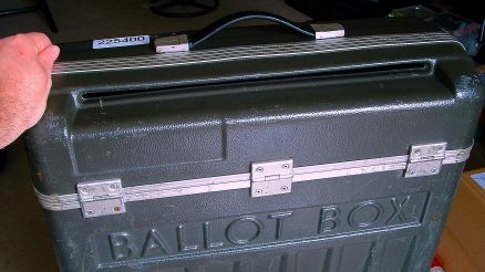 Ballot Box. Image Credit-Joe Hall