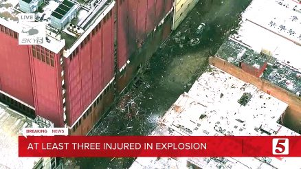 Nashville Tennessee Christmas Morning Explosion