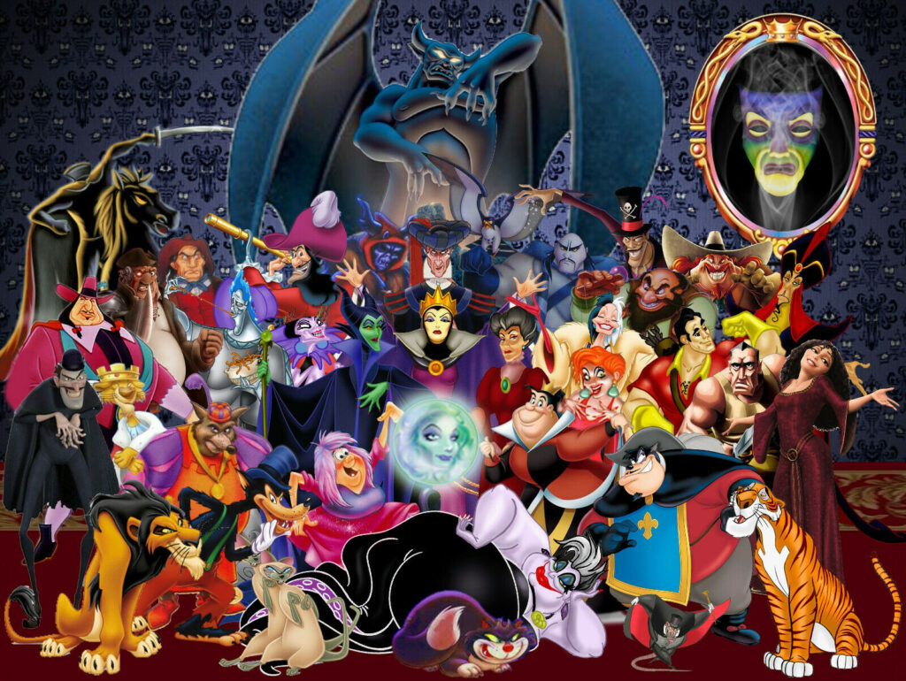 All Of The Disney Villains. Note All the Skinny People!