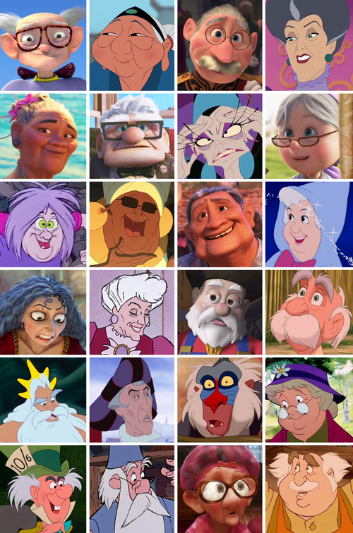 Older (and in many cases, heavier) Disney Characters.
