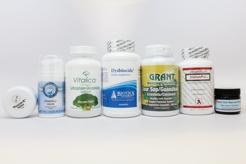 Various Illegally Sold Cancer Products. Image Credit: FDA