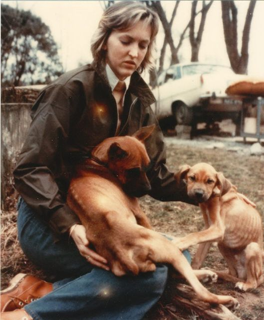 Ingrid With Dogs