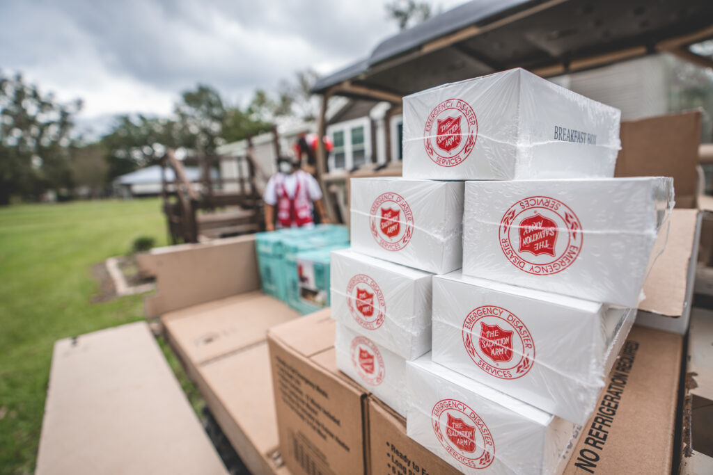 Hurricane Ida Food Relief Efforts. Image Credit - The Salvation Army