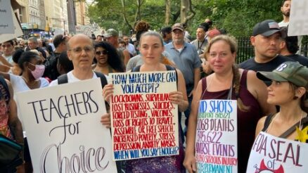 New York Unions For Choice Rally at City Hall. Image Credit - NY Teachers for Choice