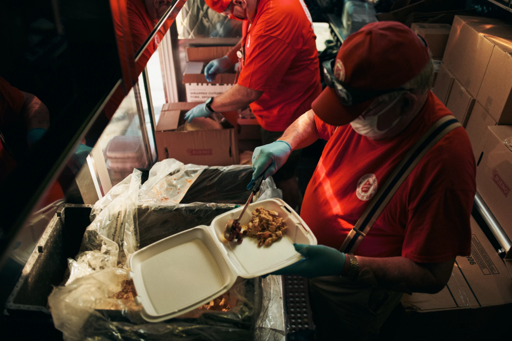 Emergency Meal Preparation. Image Credit - The Salvation Army