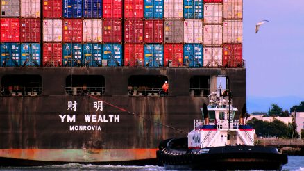 Container Ship and Tug. Image Credit- Ingrid Taylar