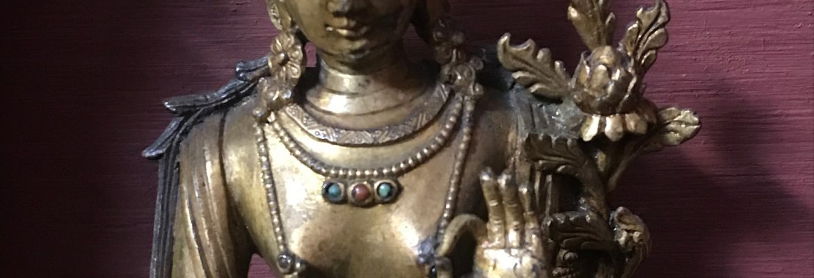 Tara Statue From 1600s Tibet- Collection of the Jacques Marchais Museum of Tibetan Art