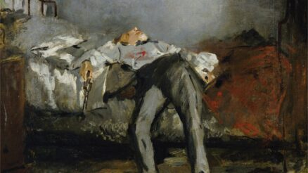 DGA593052 Suicide, 1881 (oil on canvas) by Manet, Edouard (1832-83); Buhrle Collection, Zurich, Switzerland; (add.info.: Edouard Manet (1832-1883), Suicide, 1881. Artwork-location: Zürich, Sammlung Bührle (Art Museum)); De Agostini Picture Library / E. Lessing; French, out of copyright